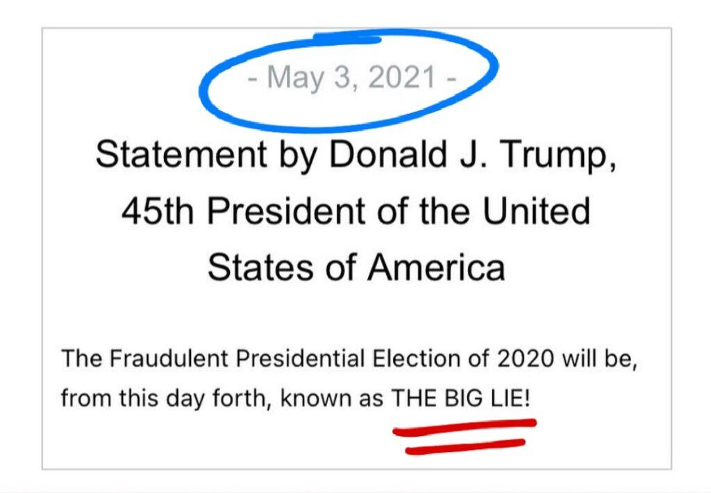 """Trump - Biden """"The Big Lie"""""""